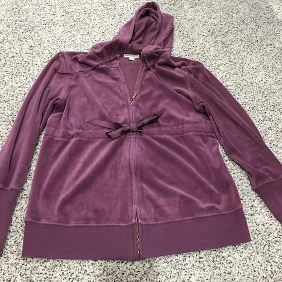 Liz Lange For Target Tops Free Final Sale Euc Purple Velvet Maternity Hoodie Poshmark